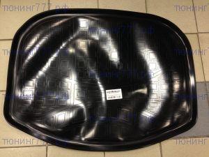 Коврик (поддон) в багажник, Unideс, полиэтилен, черный (разложенный 3й ряд)