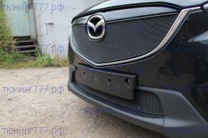 Сетка в бампер и решётку радиатора, Premium, алюминий, чёрный цвет, 2шт