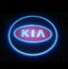 """LED проекция логотипа, """"приветственный свет"""", красное лого, к-кт на 2 двери"""