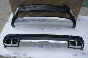 Накладки на передний и задний бампер, cnt4x4, пластик