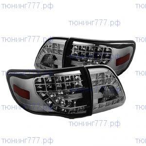 Фонари задние светодиодные, LED Chrome, а/м 2007-2010 седан
