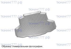 Коврик (поддон) в багажник, Unideс, полиуретановый серый, с бортиками