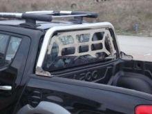 Дуга безопасности Voyager, серия Single, с защитой стекла, нерж. сталь ф 70мм