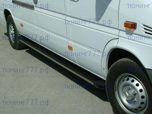 Боковые подножки Voyager, серия Truva, алюминиевые с пластик. накладками, длинная база