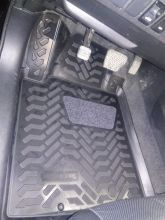 Коврики в салон, Aileron, с ворсовой вставкой, 3D полиуретан