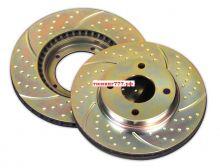 Тормозные диски EBC, серия TurboGroove, задние для 5D и 4D c V-1.8л