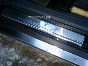 Накладки на пороги, Souz-96, с рисунком, нерж. сталь 4шт